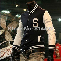 Wholesale Mens Trendy New Varsity Letterman Hoodie Baseball Jacket Slim designed Coat Size M L XL Navy Wine red Black