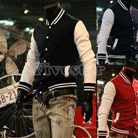 Wholesale Brand New Men s Jacket Baseball Sweatshirt Coat Fashion Basketball Man Sportwear College Uniform Hot