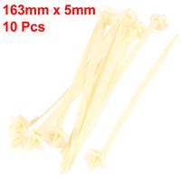 adjustable zip ties - 10 Adjustable BeigeToothed Nylon Auto Push Mount Cable Zip Tie mm Long