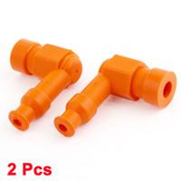 Wholesale 2 Motorcycle Spare Part Silicone Spark Plug Cap Cover Orange