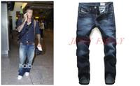 Wholesale New men s clothing arrival Italy brand fashion men s jeans warm denim blue designer jeans men large size luxury mens