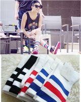 Wholesale Three Stripes Socking Skateboard Style Sport Summer High Long Striped Socks Men