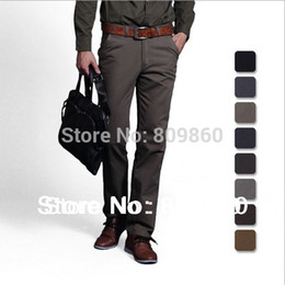 Wholesale Thick and thin Men casual Cotton casual pant Straight pants Man jeans Slim pants size colors