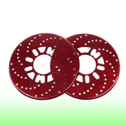 Wholesale 2 Auto Car Decorative Aluminum Disc Brake Rotor Cover Red