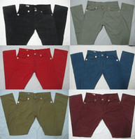 Wholesale New True Jeans Brand Denim designer high quality tr Men s Straight Pants Fashion Classic Trousers robin jeans For Men