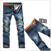Wholesale New Mens Jeans Famous Brand Fashion Designer Jeans Pants Large Size Hot Sale Cotton