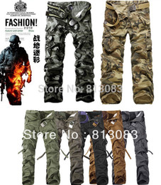Wholesale CHRISTMAS NEW MENS CASUAL MILITARY ARMY CARGO CAMO COMBAT WORK PANTS TROUSERS COLORS US SIZE