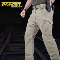 mens training pants - Urban Tactical Pants IX9 Mens Military Combat Assault Outdoor Sport SWAT Training Army Trousers cotton Spandex YKK zipper