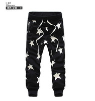 Wholesale Men s Star Printing Hip Hop Sweat Pants Harem Dance Jogger Baggy Trousers Slacks Men Jogging Sport Pants Man Trousers Joggers