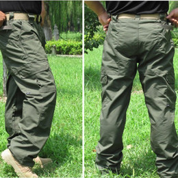 Wholesale New Mens Casual Pants Military Army Cargo Camo Combat Work Pants Trousers Army green
