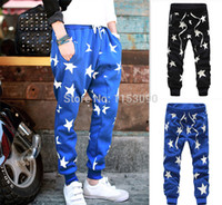 Wholesale NEW men printed drop crotch harem skinny sweatpants sports baggy pants mens casual hip hop outdoor silm bandana trousers