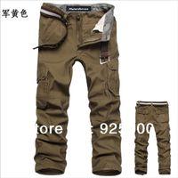 Wholesale Fashion men s cotton overalls cargo pants Baggy outdoors Hiking men s black khaki brown mens