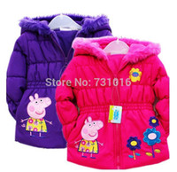 Wholesale Retail y Baby Bebe Girls Children Peppa Pig Frozen Pattern Winter Clothing Outwear CoatsDown Parkas Girl Kid Clothes
