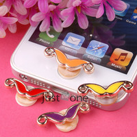 Wholesale Ramdom Color Mustache pattern Home Button Sticker for iPhone S GS for iPad for iTouch Mobile Phones