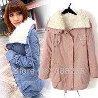 Wholesale New fashion womens winter jacket long fleece warm coats for woman in winter colors