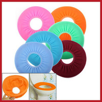 Cheap Wholesale-buyone Bathroom Warmer Toilet Washable Cloth Seat Cover Pads wholesale