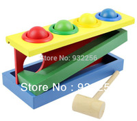 Wholesale Classic Toys D Puzzle Game Montessori Educational Wooden Baby Toys Christmas Gift for Children Beating Toy