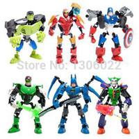 Wholesale Assembling Super Heros Batman and Hulk Plastic Model Kit Figures Building Blocks Sets Minifigures Iron Man bricks block