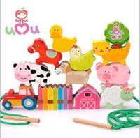 Wholesale Farm Beads Animal Wooden Toys Educational Toys Developmental Toy