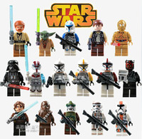 Wholesale Building Blocks Super Heroes Avengers Star Wars Action figures Minifigures Han Solo Yu Da Capain Rex Clone Trooper Commander Toy