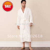 bamboo robe men - Bathrobe Men robes Dressing Gown Bamboo fiber Bath gown White Blue Pink Unisex Natural amp Eco friendly