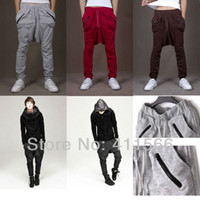 Wholesale Color Hot Sales Free Ship New Offer Casual Pants For men Fashion Cool Harem Pants Sweatpant Zipper Pocket Design M XXL
