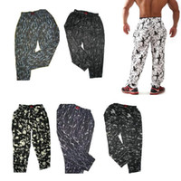 Wholesale E0494 Men s long pants for Fitness amp Bodybuilding Training pants Leisure sports Running trousers baggies