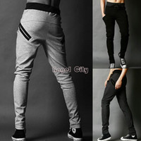 Wholesale Top Quality Male Tapered Pants Hip Hop Slacks Dance Sweat Pants Capri Pants Men Parkour Sport Trouser