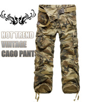 Wholesale Group buying Hot Selling brand color fashion men army cargo pant camouflage camo pants for men size