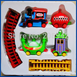 Wholesale Hot Sale Electric Ding ding Car Toy Plastic Night Garden Mini Train Track Series Education Kids Train Toys