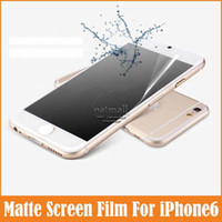 Wholesale Protection Film For iPhone6 inch Transparent Matte Anti Glare H for Apple iPhone Screen Protector Accessories
