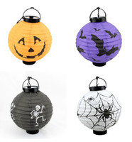 Wholesale Halloween decorations LED Pumpkins lantern jack skeletons spiders bats haunted house bar party props supplies gift for Kids free