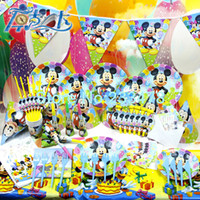 party supplies - New Luxury Kids Birthday Party Decoration Set Mickey Mouse Theme Party Supplies Baby Birthday Party Pack CK