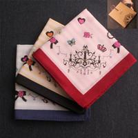 ladies handkerchiefs - 2014 Christmas cotton handkerchiefs Ladies handkerchief women s handkerchief pocket squares lencos younger handkerchief gift