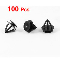 Wholesale 100 Black Plastic Rivets Retainer Clip mmx14mmx10mm for Car Bumper Fender