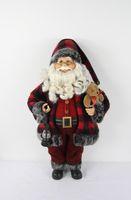 Wholesale Santa Claus decoration Christmas ornament figurine with ball hat box bag fashion