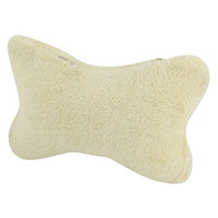head rest - Auto Stretchy Band Bone Design Neck Head Rest Pillow Cushion Pad Beige