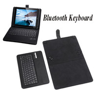 Wholesale New Black Universal Wireless Bluetooth Keyboard Leather Case Cover for quot quot Detachable Tablet PC Leather Case C1758