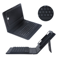 Wholesale Black Silicone Keyboard PU Leather Case with Wireless Bluetooth Cover Stand for Samsung Galaxy Tab P3200 C1743