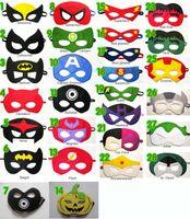 Cheap 52color christmas Ninja Turtle wonder woman Captain America Green Lantern mask kids best gife party masks superman,Batman superwoman