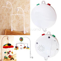 Wholesale Songs for Choose White Baby Mobile Crib Bed Bell Kid Toy Rotary Movement Music Box SV16 SV008637