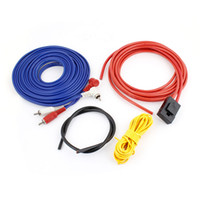 Cheap Car Vehicle AV Audio Power Ground Control Amplifier Cable Kit Blue Red