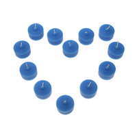 Wholesale 12 Mini Scented Votive Wax Candles Blue Wedding Favor