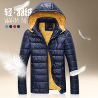 Wholesale European Fashion Style Mens Famous Brand Down Jacket white duck down For Top MenWinter Man Dress Casual Jacket Coat