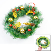 christmas wreath ring - Xmas Christmas Glittery Green Balls Beads Decor Ring Wreath