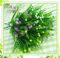 artificial plants - 10x Artificial Grass Decorative Flowers Artificial Plants Plastic Silk Flower cm Length simulation flower