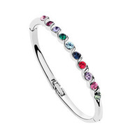 Wholesale Pulseras Mujer Fashion Charm Jewelry Crystals Bracelet Bangles For Women K White Gold Filled made with Swarovski Elements