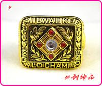 Wholesale 1957 MLB Milwaukee Braves baseball championship rings gold