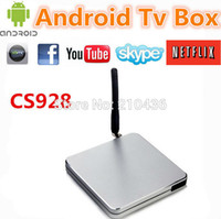 Wholesale CS928 A31S Bleutooth rent free HD set top boxes Android network player TV BOX G G