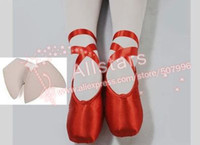adult pointe - High quality Professional dance shoes Children Adult ballet pointe dance shoes with toe shoes satin fabric shoes J